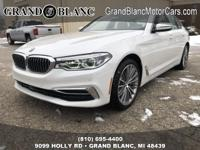 Recent Arrival!  Mineral White Metallic 2019 BMW 5