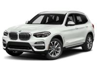Boasts 27 Highway MPG and 20 City MPG! This BMW X3