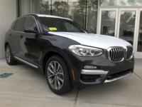 New Price! Dark Graphite Metallic 2019 BMW X3 xDrive30i