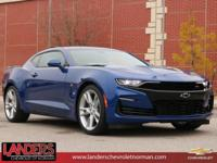 Riverside Blue Metallic 2019 Chevrolet Camaro SS 2SS