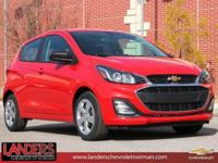 Red Hot 2019 Chevrolet Spark LS FWD CVT 1.4L DOHC