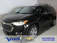 Black Metallic 2019 Chevrolet Traverse LT Cloth w/1LT