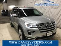 Ingot Silver 2019 Ford Explorer Limited AWD 6-Speed