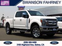 2019 Ford F 250SD 4D Crew Cab White 4WD Power Stroke