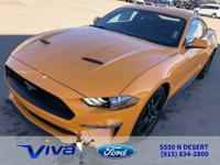 Orange 2019 Ford Mustang EcoBoost RWD 10-Speed