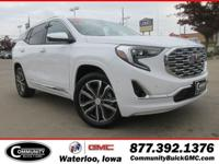 Summit White 2019 GMC Terrain Denali AWD 9-Speed