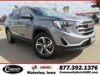 satin steel metallic 2019 GMC Terrain SLT AWD 9-Speed
