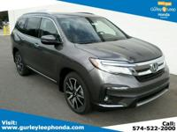 Scores 26 Highway MPG and 19 City MPG! This Honda Pilot