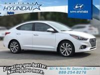 White 2019 Hyundai Accent Limited FWD 6-Speed Automatic