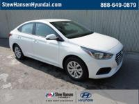 FROST WHITE 2019 Hyundai Accent SE FWD 6-Speed