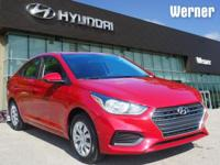 Red 2019 Hyundai Accent 1.6L  Recent Arrival!  Options: