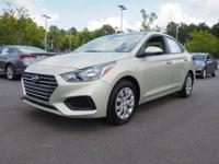 38/28 Highway/City MPG  Beige 2019 Hyundai Accent SE