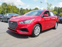 38/28 Highway/City MPG  Red 2019 Hyundai Accent SE FWD