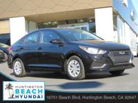 2019 Hyundai Accent 4D Sedan Black Pearl 1.6L