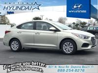 Beige 2019 Hyundai Accent SE FWD 6-Speed Automatic with