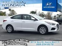 White 2019 Hyundai Accent SE FWD 6-Speed Automatic with