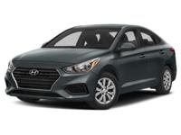 Frost White 2019 Hyundai Accent SEL FWD 6-Speed