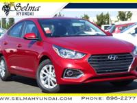 Red Metallic 2019 Hyundai Accent SEL FWD Automatic 1.6L