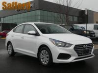 Frost White 2019 Hyundai Accent SE Beige Cloth. This