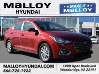 Recent Arrival! Beige Cloth.  Red 2019 Hyundai Accent