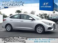 Silver 2019 Hyundai Accent SE FWD 6-Speed Automatic