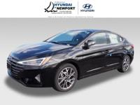 This 2019 Hyundai Elantra Limited includes a push