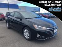 2019 Hyundai Elantra SE 29/38 City/Highway MPG