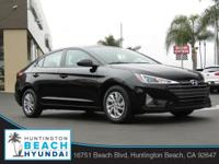 2019 Hyundai Elantra 4D Sedan Phantom Black 2.0L