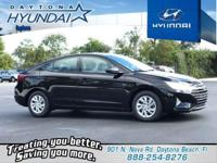 Black 2019 Hyundai Elantra SE FWD 6-Speed Automatic
