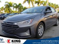 29/38 City/Highway MPG King Hyundai is pleased to offer