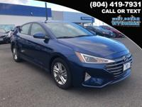 2019 Hyundai Elantra SEL 37/28 Highway/City MPG