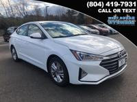 2019 Hyundai Elantra SEL 28/37 City/Highway MPG