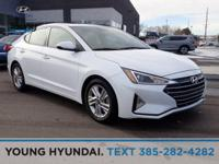 New Price! White 2019 Hyundai Elantra FWD 6-Speed