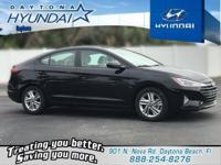 Black 2019 Hyundai Elantra SEL FWD 6-Speed Automatic