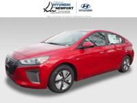 This RED 2019 Hyundai Ioniq Hybrid Blue might be just