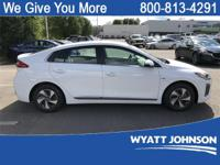 Ceramic White 2019 Hyundai Ioniq Hybrid SEL FWD 6-Speed