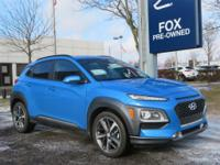 Surf Blue 2019 Hyundai Kona Limited AWD 7-Speed