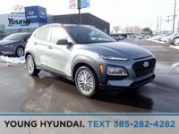 Silver / Black 2019 Hyundai Kona SEL AWD 6-Speed