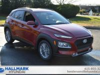 Pulse Red 2019 Hyundai Kona SEL FWD Automatic 2.0L