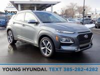 Silver 2019 Hyundai Kona Ultimate AWD 7-Speed Automatic