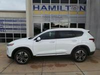 This 2019 Hyundai Santa Fe Limited is White with a