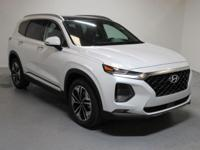 White 2019 Hyundai Santa Fe Ultimate 2.0 AWD 8-Speed