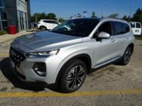 Silver 2019 Hyundai Santa Fe AWD 8-Speed Automatic with