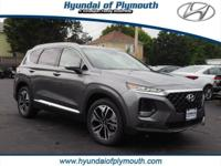 Machine Gray 2019 Hyundai Santa Fe Limited 2.0T 2.0L