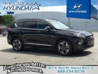 Black 2019 Hyundai Santa Fe Limited 2.0T FWD 8-Speed