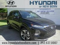 Recent Arrival!  Black 2019 Hyundai Santa Fe Ultimate