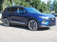 Blue 2019 Hyundai Santa Fe Ultimate 2.0 FWD 8-Speed