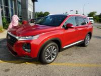 Scarlet Red 2019 Hyundai Santa Fe Ultimate AWD