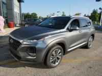 Machine Gray 2019 Hyundai Santa Fe Limited 2.4 AWD