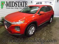 Lava Orange 2019 Hyundai Santa Fe SE AWD Automatic 2.4L